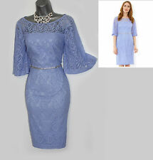 *MONSOON*Purple Lace LILLY Embellished Party Cocktail Wedding Dress sz12/40 £119