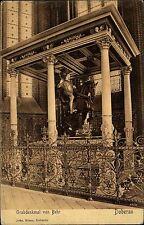Doberan Mecklenburg Vorpommern Postkarte 1916 Grabdenkmal von Behr Reiterstatue