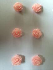 CUTE PINK ROSE FLOWER EARRINGS 10mm Kitsch Retro Gift Bridesmaid Wedding