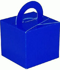 10 Royal Blue Balloon Boxes - Gift Weights Table Wedding Kids Decoration