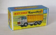 Repro Box Matchbox Superfast Nr.47 DAF Tipper Container Truck