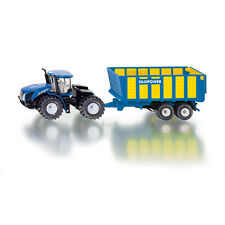 SIKU New Holland T9.560 Tractor with Silage Trailer * 1:50 scale toy model * NEW