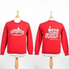 VINTAGE RETRO BREW PUB PRISON BREWS USA SWEATER SWEATSHIRT JUMPER CREW NECK S