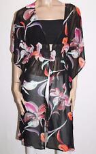 RESORT Designer Black Floral Chiffon Butterfly Sleeves Cardigan Size S/M #SE01