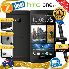 (NEW SEALED BOX) HTC ONE M7 32GB BLACK 4G LTE 100% UNLOCKED PHONE 12MTH AUS WTY