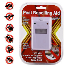 Electronic Ultrasonic Pest Control Repeller Repellant Insects Rodents Roaches