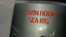 Ready Made Sea Rigs twin hook rig ready tied grandeslam + 2 zip sea sliders