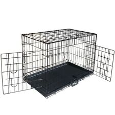 """Metal Collapsible Pet Dog Cage Cat Puppy Portable Crate House XXL 48"""""""
