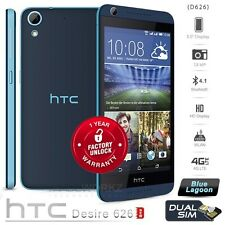 New Unlocked HTC Desire 626 Dual Sim 16GB Blue 13MP Android 4G LTE Mobile Phone