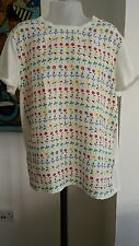 Stella McCartney Girls Short Sleeved Silk/Cotton Top Size 10 Years Immaculate