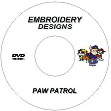 EMBROIDERY DESIGNS CD DVD PAW PATROL CHARACTERS X7 BROTHER JANOME SINGER