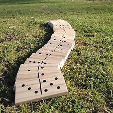 Giant Dominoes Oak Woden Game Set Pack