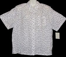 """Brand New - """"Imagemakers"""" - Plus Size 22 White Work Shirt with collar and pocket"""