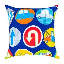 Road Signs Design Children's Kids Filled Scatter Cushion with Zip Cover Bedroom