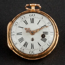 Taschenuhr Étienne-Augustin Le Roy Gelb Gold 750 / 18 Ct Poket watch France