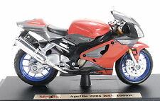 Aprilia RSV 1000 R rot 2006 maisto 1:18 Motorrad Modell die cast