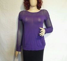Goth Cybergoth Rock Punk River Island Size 8 purple mesh sleaved top Free p&p
