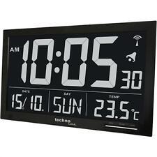 Technoline WS 8007 Funk Wanduhr mit Jumbo LCD Uhr große Anzeige Datum Temperatur