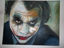 Gemälde/Portrait vom Joker(Heath Ledger) Batman, Unikat, Kunst, Malerei