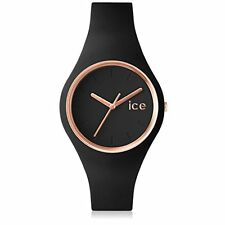 Ice-Watch Damen-Armbanduhr Glam rosegold black Analog Quarz Silikon ICE.GL.BRG.S