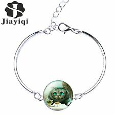Fashion Silver Plated glass Art cabochon charm Friendship Bracelets for Women