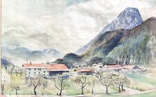 Neue Münchner Sezession Aquarell Gemälde Eugen Croissant Breitbrunn Chiemsee ~40