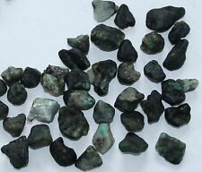 90 carats of Rough Emeralds in Gem cases (6 pieces)