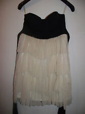Lipsy black cream cup  dress size 8