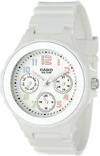 Casio LRW-250H-7B Ladies White  Analog Watch 3 Circles Date Neo Display New
