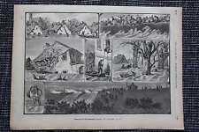 Szeged  Szegedin Hochwasser Tisza Theiß HOLZSTICH von 1879 Magyarország Ungarn