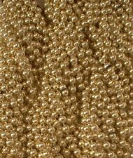 72 Gold Mardi Gras Gra Beads Necklaces Party Favors 6 Dozen Lot