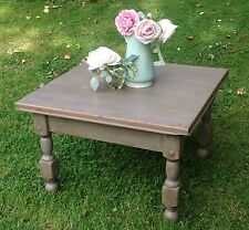 Vintage Grey Hand Painted Pine Occasional Side Coffee Table