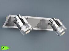 LED Deckenleuchte / Strahler / Wandstrahler mit Schalter, dimmbar, 2 x  GU10