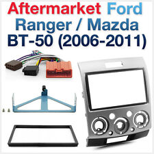 Ford Ranger PJ-PK & Mazda BT-50 Double-DIN Facia Fascia Kit + ISO Wiring Harness