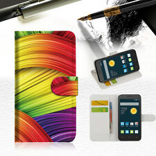 Meaningful Abstrac Wallet Case Cover For Optus 4G ZTE ZIP -- A020