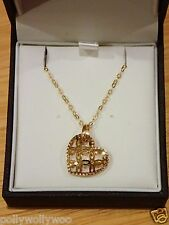 ERNEST JONES 9ct Yellow GOLD Necklace with Heart Pendant - Brand New & Boxed