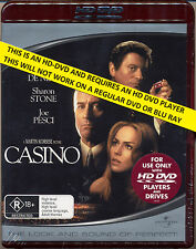 CASINO  Robert De Niro  Joe Pesci   NEW & SEALED  HD DVD  Flat Rate Tracked Post