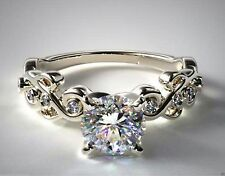 2.00CT ROUND SOLITAIRE BEAUTIFUL LADIES ENGAGEMENT RING 14CT SOLID WHITE GOLD
