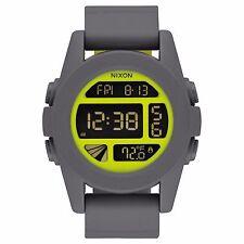 Nixon A197147 Unit  Grey Yellow Unisex Digital Watch