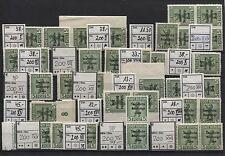 SBZ Plattenfehler-Lot 200 I-XXII (ohne IX und XVII) komplett postfrisch (B04855)