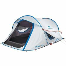 Quechua Waterproof Pop Up Camping Tent 2 Seconds Easy FRESH II, Double Lining