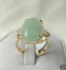Genuine Noblest green Jade lady's Ring SIZE 7 8 9#
