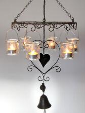 Windlicht, Nostalgie-Hängeleuchter, Gartenlaterne mit 6 Teelichthaltern Art. N86