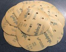 """FARECLA P1500 film abrasive discs Velcro 150mm Pack (10) 6"""" Sanding"""