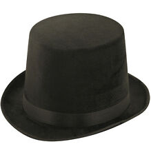 BLACK TALL TOP HAT ADULT MAGICIAN FANCY DRESS VICTORIAN LINCOLN  RINGMASTER