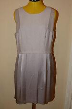 BRAND NEW Reiss GIGI Textured Dress. Ice Grey. UK Size 16