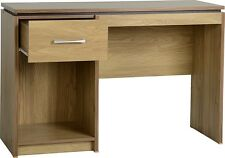 Small Computer Desk Oak Solid Wood Table 1 Drawer Home Study Office Furniture UK