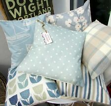 CUSHION COVER PRESTIGIOUS DUCK EGG BLUE COTTON FABRIC POLKA DOT SPOT SPRING X)