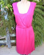 PORTMANS Hot Pink DRESS Lace Bodice RRP$89.95 WORK-PARTY DRESS SIZE M 14-16 New