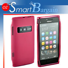 Pink Soft Gel TPU Cover Case For Nokia X7 + Screen Protector